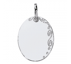 Pendentif laique or gris 750/1000 by Stauffer