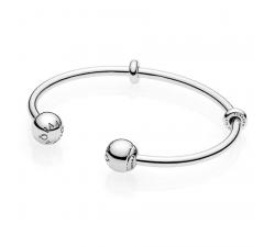 Bracelet Jonc Ouvert Moments, argent 925/1000 PANDORA 596477