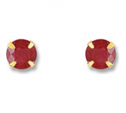 Boucles d'oreilles or jaune 750/1000, rubis by Stauffer
