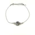 Bracelet argent 925/1000 et Swarovski elements Indicolite BR-EMI-SINI