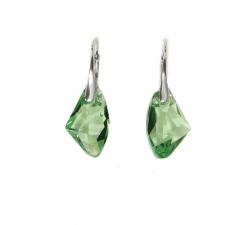 Boucles d'oreilles argent 925/1000 et Swarovski elements Indicolite DO-ALICIA-214
