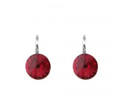 Boucles d'oreilles argent 925/1000 et Swarovski elements Indicolite DO-EMI-208