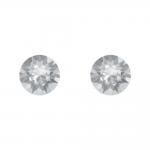 Boucles d'oreilles argent 925/1000 et Swarovski elements Indicolite PU-RON6-001