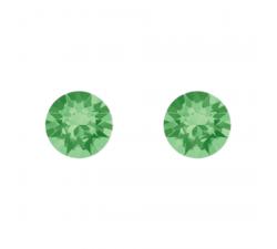 Boucles d'oreilles argent 925/1000 et Swarovski elements Indicolite PU-RON6-214