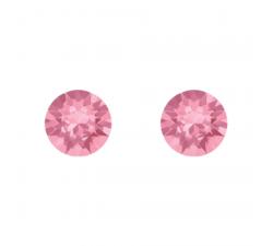Boucles d'oreilles argent 925/1000 et Swarovski elements Indicolite PU-RON6-223