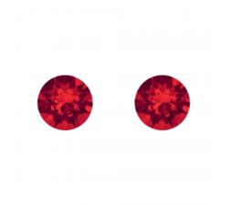 Boucles d'oreilles argent 925/1000 et Swarovski elements Indicolite PU-RON6-227
