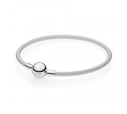 Bracelet Maille Tissée Moments argent 925/1000 PANDORA 596543