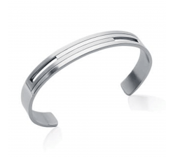 Bracelet acier rigide by Stauffer