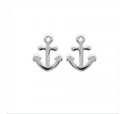Boucles d'oreilles argent 925/1000, ancre de marine by Stauffer
