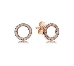 Boucles d'oreilles PANDORA Pour Toujours Rose 280585CZ