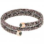 Bracelet-jonc Crystaldust Double, multicolore, plaqué or rose SWAROVSKI 5348102