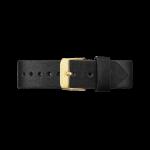 Bracelet en cuir noir Gramercy 18 mm Rosefield CCBLG-S110