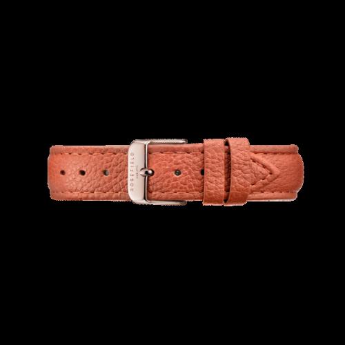 Bracelet en cuir tangerine Bowery 18 mm Rosefield STRS-S143