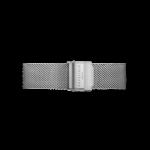 Bracelet en acier argenté mailles milanaises 16 mm Rosefield TMSS - S127