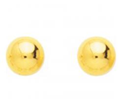 Boucles d'oreilles boules 5 mm plaqué or by Stauffer