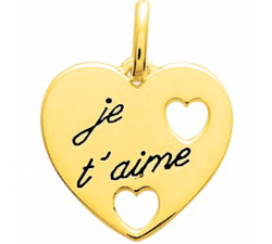 Pendentif coeur plaqué or by Stauffer