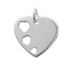 Pendentif argent 925/1000, coeur by Stauffer