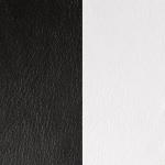 Cuir pour pendentif rectangulaire collier Les Georgettes - Noir/Blanc 25 mm 703110199M4000