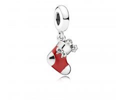 Charm Pendentif Chausson de Noël Argent 925/1000 Pandora 796387EN39