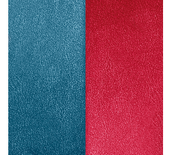 Cuir pour pendentif rectangulaire collier Les Georgettes - Bleu/Framboise 60 mm 703110399M7000