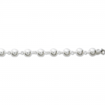 Chaîne argent 925/1000, mailles boules 8 mm by Stauffer