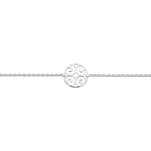 Bracelet argent 925/1000, motif rond arabesque by Stauffer