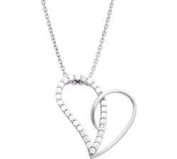 Collier argent 925/1000, motif coeur by Stauffer