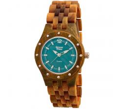 Montre bois de santal vert femme GREENTIME ZW055C