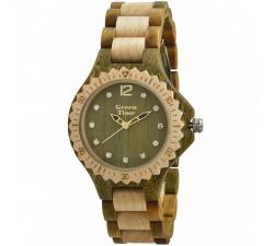Montre bois d'érable et santal vert femme GREENTIME ZW064E