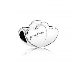 Charm Deux Coeurs Argent 925/1000 Pandora 796560CZ