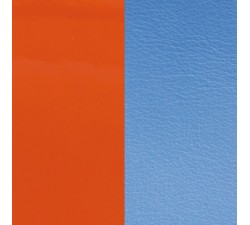 Cuir pour pendentif rond collier Les Georgettes - Orange vernis / Bleuet 45 mm 703110099C2000
