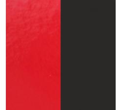 Cuir pour pendentif rectangulaire collier Les Georgettes - Rouge vernis/Noir 25 mm 703110199AO000