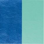Cuir pour pendentif rectangulaire collier Les Georgettes - Bleu sirène / Vert d'eau 25 mm 703110199C6000