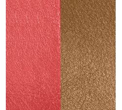 Cuir pour pendentif rectangulaire collier Les Georgettes - Rouge orangé / Brun rosé 25 mm 703110199M6000