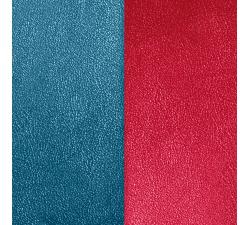 Cuir pour pendentif rectangulaire collier Les Georgettes - Bleu / Framboise 25 mm 703110199M7000