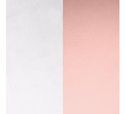 Cuir pour pendentif rectangulaire collier Les Georgettes - Gris clair / Rose clair 25 mm 703110199MP000