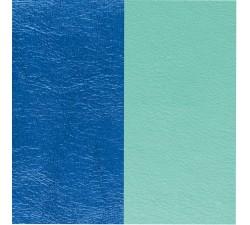 Cuir pour pendentif rectangulaire collier Les Georgettes - Bleu sirène / Vert d'eau 40 mm 703110299C6000