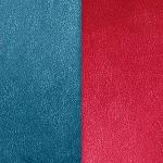 Cuir pour pendentif rectangulaire collier Les Georgettes - Bleu / Framboise 40 mm 703110299M7000
