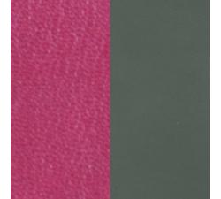 Cuir pour pendentif rectangulaire collier Les Georgettes - Fuschia / Kaki 60 mm 703110399AJ000