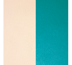 Cuir pour pendentif rectangulaire collier Les Georgettes - Nude / Aquatic 60 mm 703110399AX000