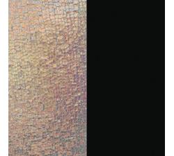 Cuir pour pendentif rectangulaire collier Les Georgettes - Ecailles iridescentes / Noir soft 60 mm 703110399BE000
