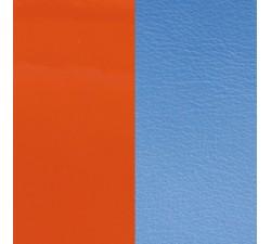 Cuir pour pendentif rectangulaire collier Les Georgettes - Orange vernis / Bleuet 60 mm 703110399C2000