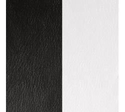 Cuir pour pendentif rectangulaire collier Les Georgettes - Noir / Blanc 60 mm 703110399M4000