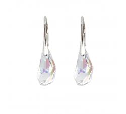 Boucles d'oreilles argent 925/1000 et Swarovski elements Indicolite DO-POLY-001AB