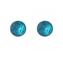 Boucles d'oreilles argent 925/1000 et Swarovski elements Indicolite PU-RON6-112
