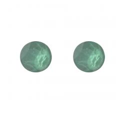 Boucles d'oreilles argent 925/1000 et Swarovski elements Indicolite PU-RON6-115