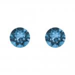 Boucles d'oreilles argent 925/1000 et Swarovski elements Indicolite PU-RON6-207