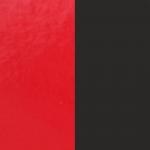 Cuir pour pendentif rectangulaire collier Les Georgettes - Rouge vernis/Noir 60 mm 703110399AO000