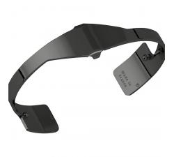 Bracelet Plaqué argent ruthénié brillant 14 mm Les Georgettes FOR MEN - Asymétrie 70318013500000