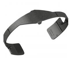 Bracelet Plaqué argent ruthénié satiné 14 mm Les Georgettes FOR MEN - Asymétrie 703180135F2000